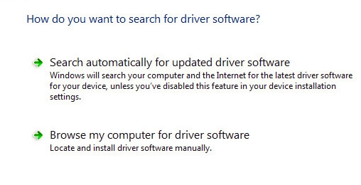 search automatically for updated driver software Error connecting server