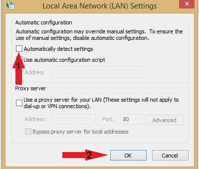 automatically detect settings Content servers unreachable Steam download error