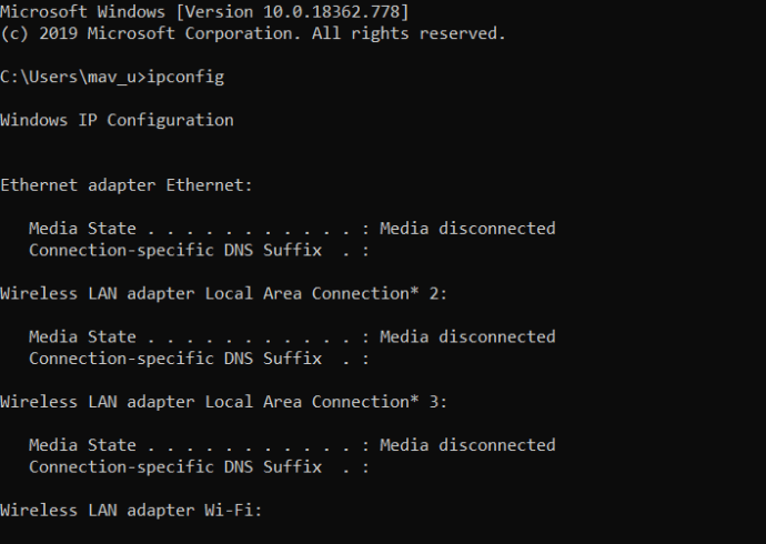 ipconfig command Io netty channel abstractchannel AnnotatedConnectException: Connection timed out fix