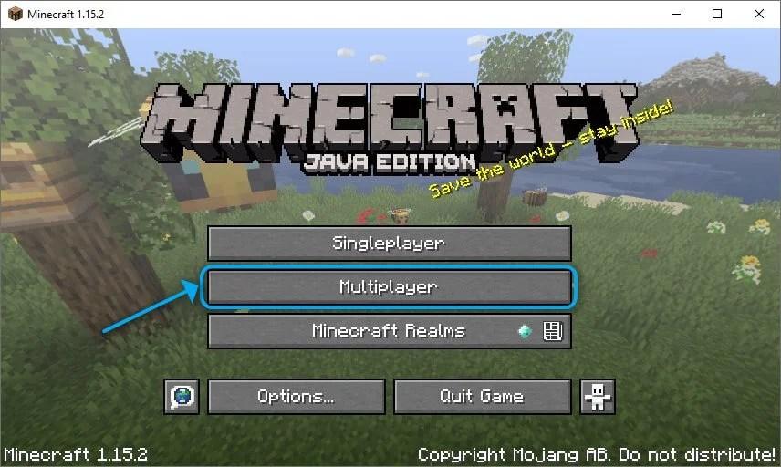Multiplayer mode Minecraft