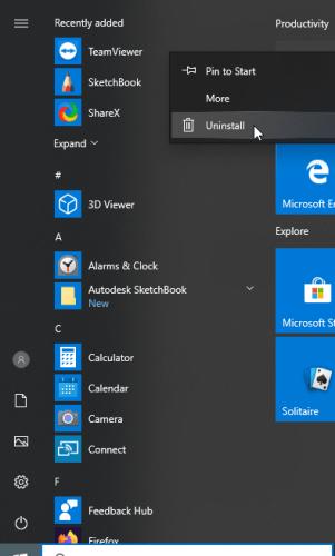 uninstall files to fix 0x00000010
