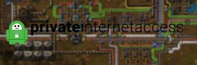 use Private Internet Access to fix Factorio lag