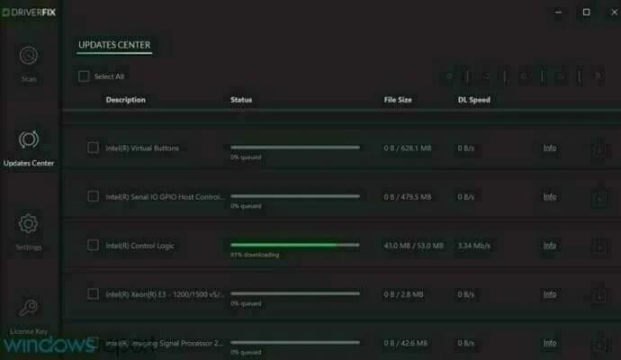DriverFix automatically update drivers