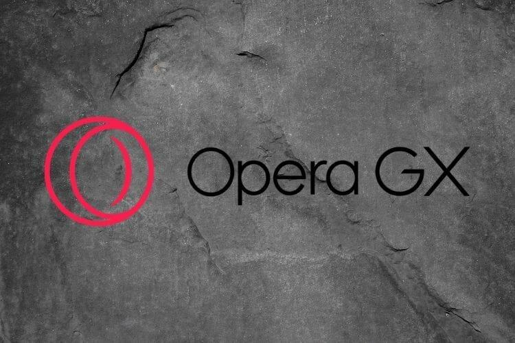 OperaGX logo facebook games not loading in browser