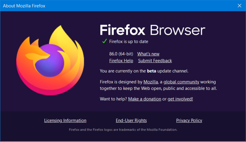 About Mozilla Firefox window facebook games not loading in browser
