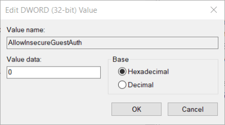 Edit DWORD window windows cannot access readyshare