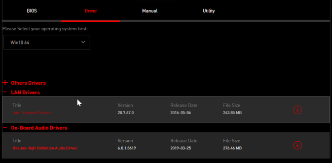 MSI driver CD not working
