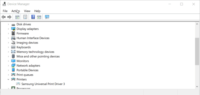 Device Manager install printer drivers windows 7