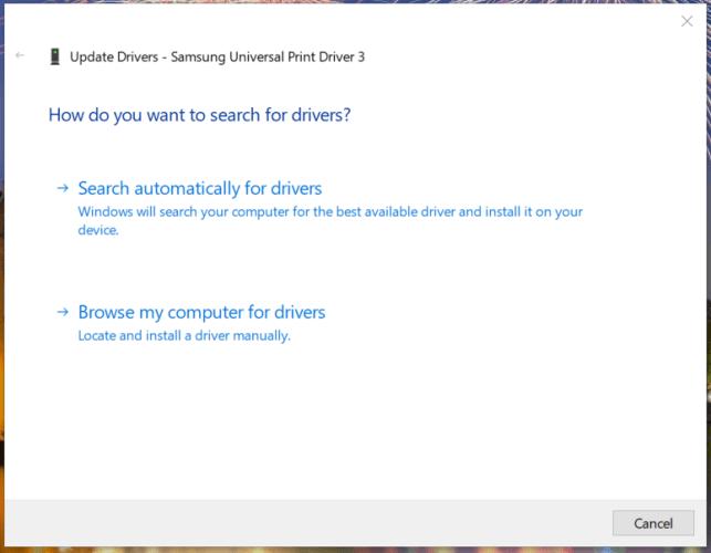 Update Drivers window install printer drivers windows 7