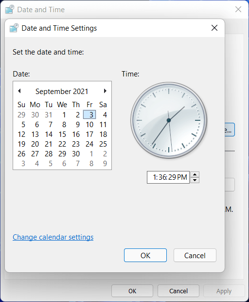 set future time and date