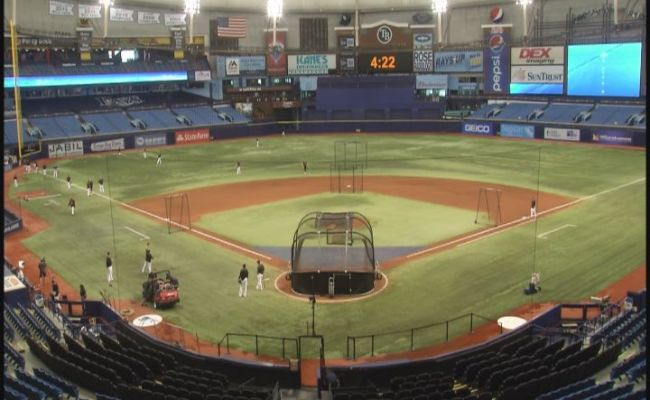Baltimore Orioles Play Home Game At Tropicana Field