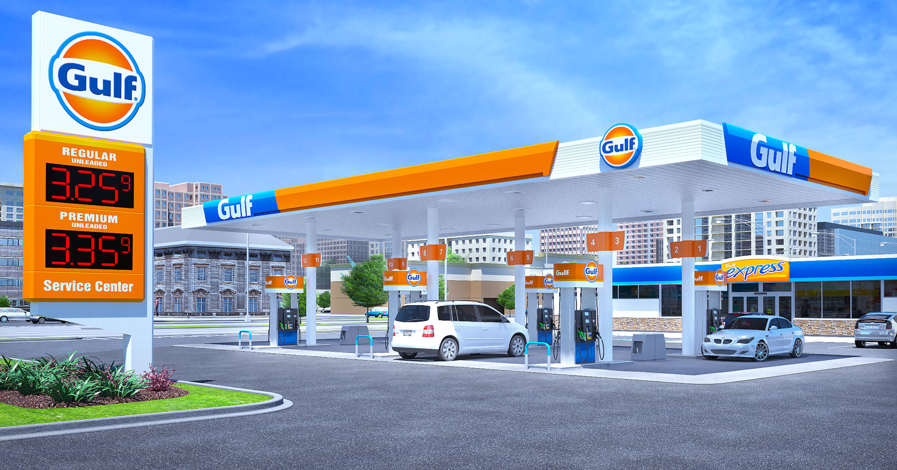 A Car Wash Diagram Gulf Oil Refreshing Brand Updating C Store Image