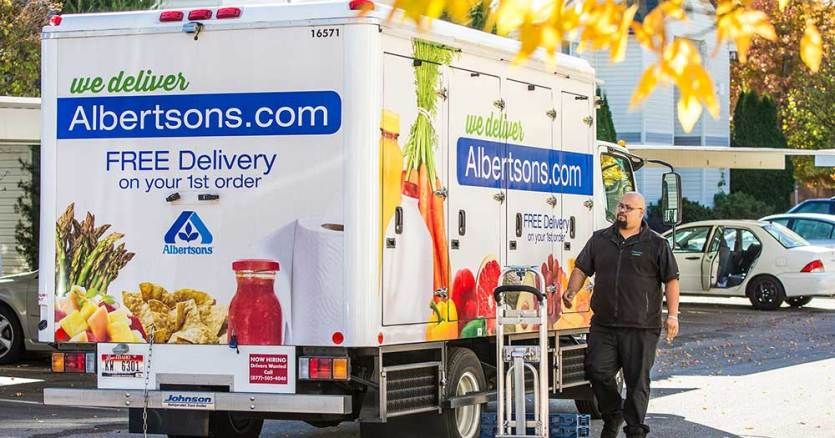 albertsons delivery truck