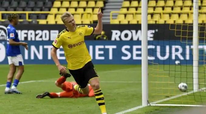 Watch - Dortmund's Erling Haaland scores Bundesliga's first goal ...