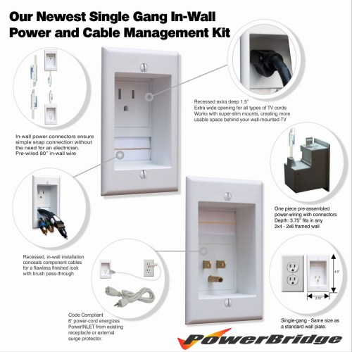 small resolution of  an existing outlet and plug your tv and a v system in with their respective cables the below instructional video and the printed instructions that