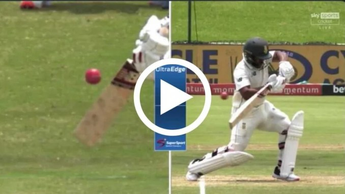Watch: 'What Has He Done!' – Bavuma Walks After Missing The Ball