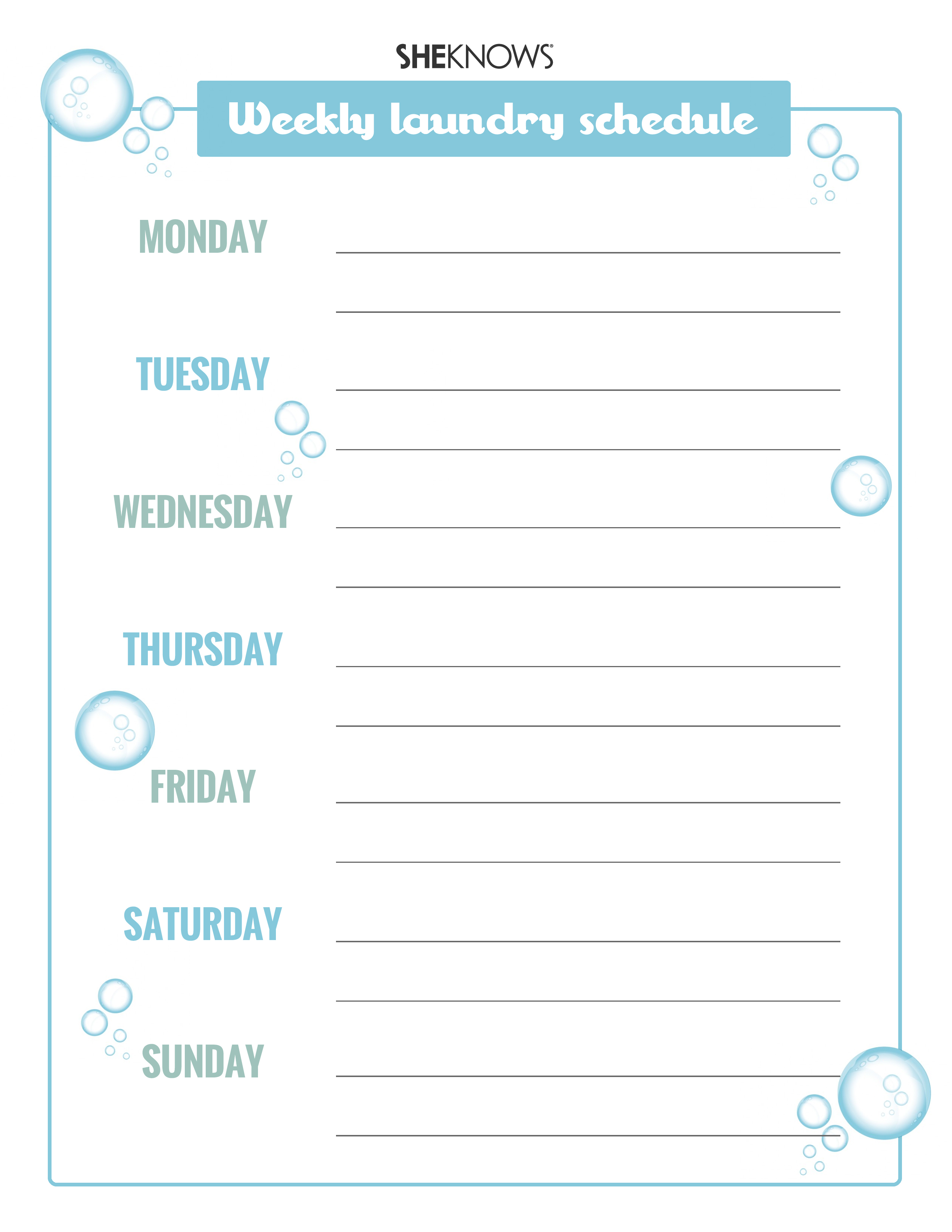 3 Helpful Printables For Scheduling Laundry And Chores