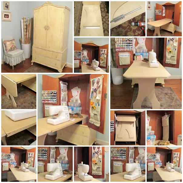 Wonderful DIY Sewing Cabinet