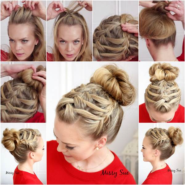 DIY Elegant Evening Braid Hairstyle