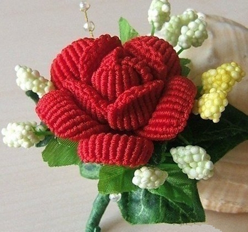 Wonderful DIY Beautiful Macrame Rose
