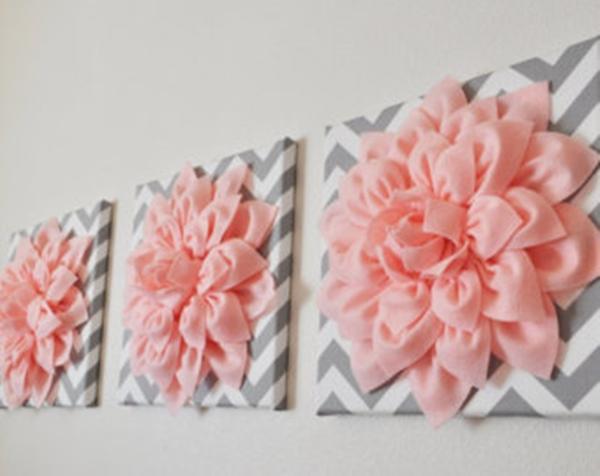 3D Felt Flower Wall Art, Free Guide