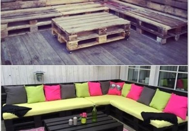 Outdoor Pallets Patio Furniture Pallet Ideas