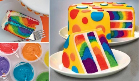 Wonderful DIY Rainbow Tie Dye Surprise Cake