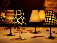 Wonderful DIY Fancy Wine Glass Candle Lampshades