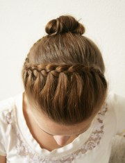 wonderful diy pretty braided hairdo