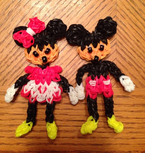 Wonderful DIY Rainbow Loom Disney Mickey And Minnie Mouse