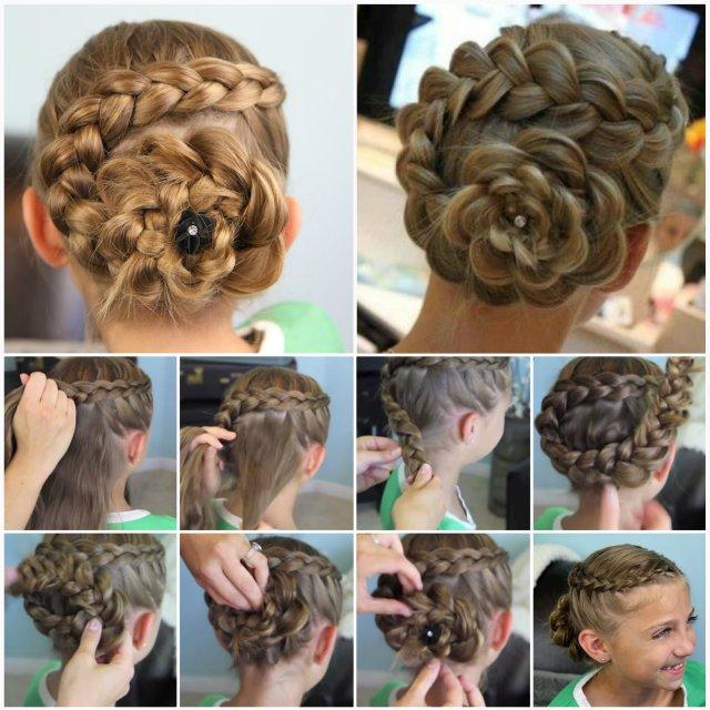 wonderful diy cute dutch flower braid hairstyle