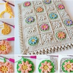 Diagram For Granny Square Crochet Stitch Phone Connection Wiring Australia Wonderful Diy Flower Squares