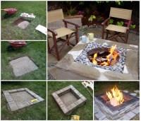 Wonderful DIY Easy Fire Pit In Backyard