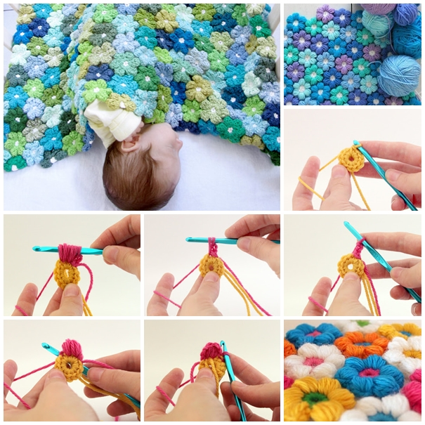 SuperSoft 6 Petal Flower Baby Blanket With Free Pattern