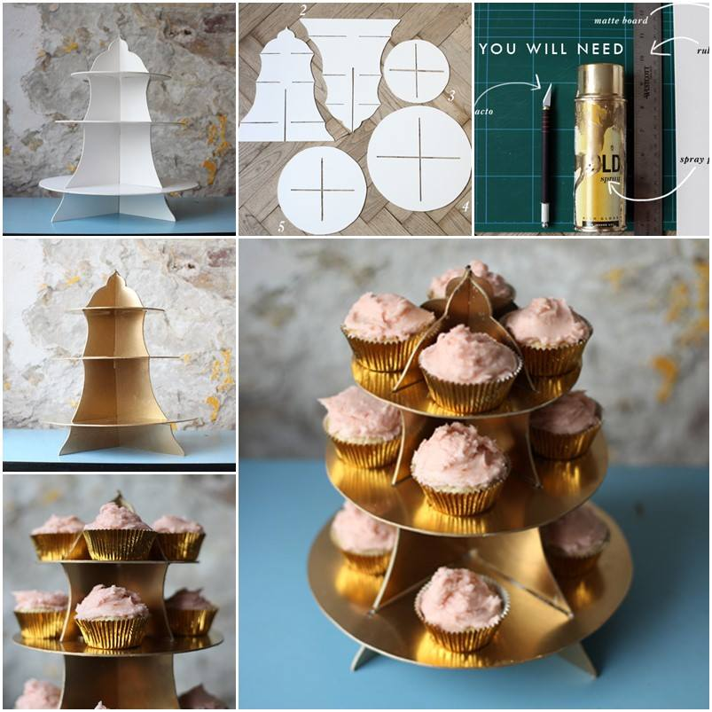 Easy DIY Cardboard Cupcake Stand Free Template Guide