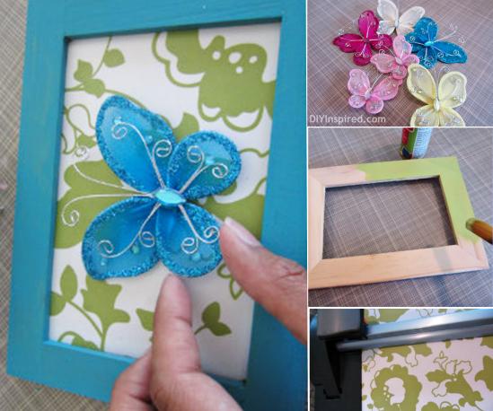 Wonderful DIY Beautiful Butterfly Frame Wall Art