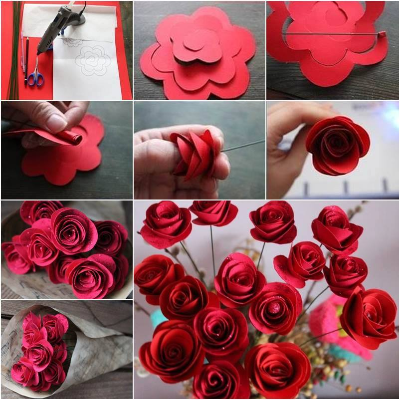 DIY Paper Roses Beautiful DIY Red Paper Roses