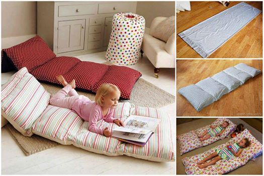 Wonderful DIY Floor Pillow Without Sewing