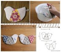 Wonderful DIY Cute Bird Potholder With Template