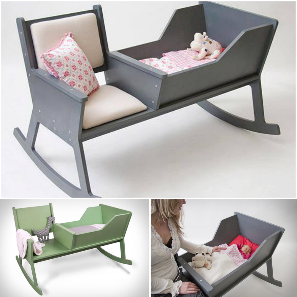 rocking chair crib combo industrial kitchen chairs wonderful diy cradle with a