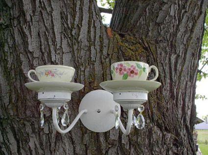 Wonderful DIY Beautiful Teacup Bird feeder