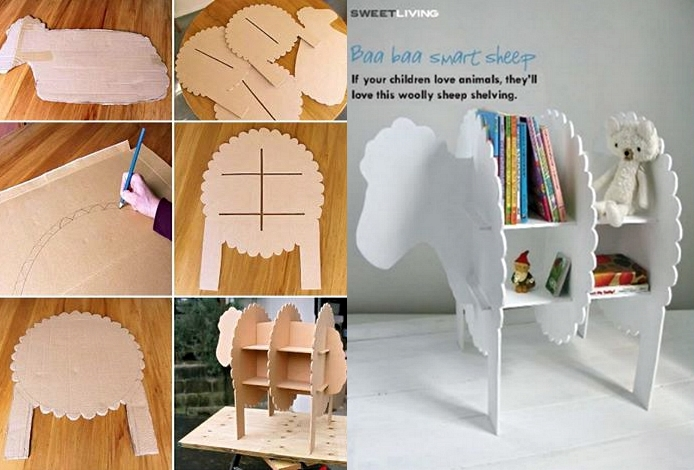 Wonderful DIY Smart Sheep Bookshelf For Kids
