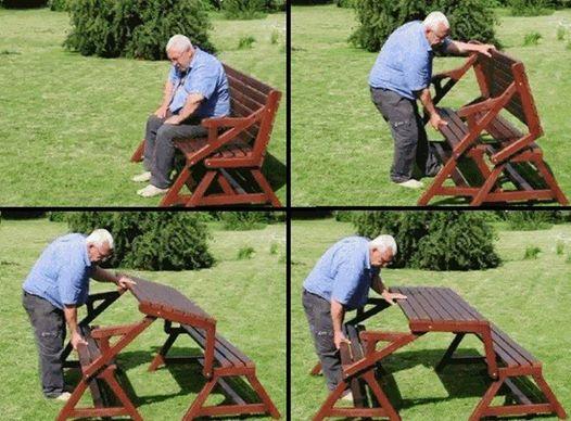 Wonderful Diy Space Saving Fold Down Picnic Table