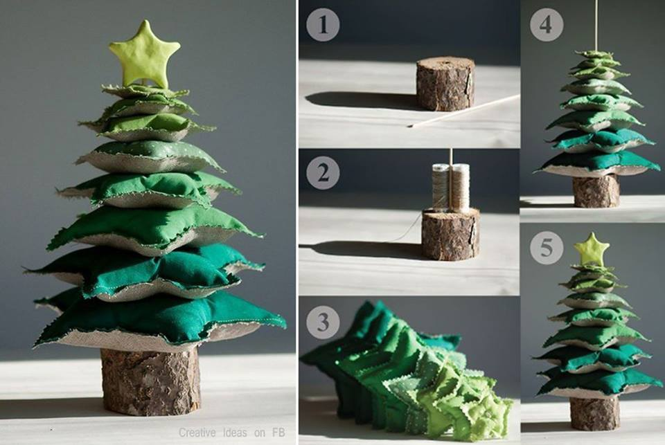 Wonderful DIY Star Pillow Tower Christmas Tree