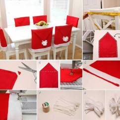 Chair Cover Christmas Decorations Antique Oak Table And Chairs For Sale Wonderful Diy Adorable Santa Hat Covers