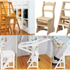 Double Seat Folding Chair Small Desk And Set Wonderful Diy 2 In 1 Step Stool