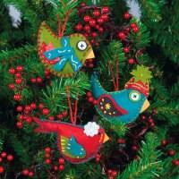 Wonderful DIY Cute Felt Bird Ornaments