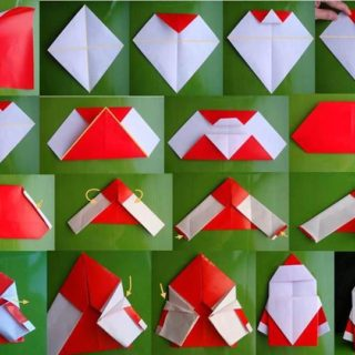 Wonderful DIY Cute Mini Origami Santa