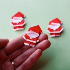 Christmas Elf Chair Covers Childrens Desk And Set India Wonderful Diy Cute Mini Origami Santa