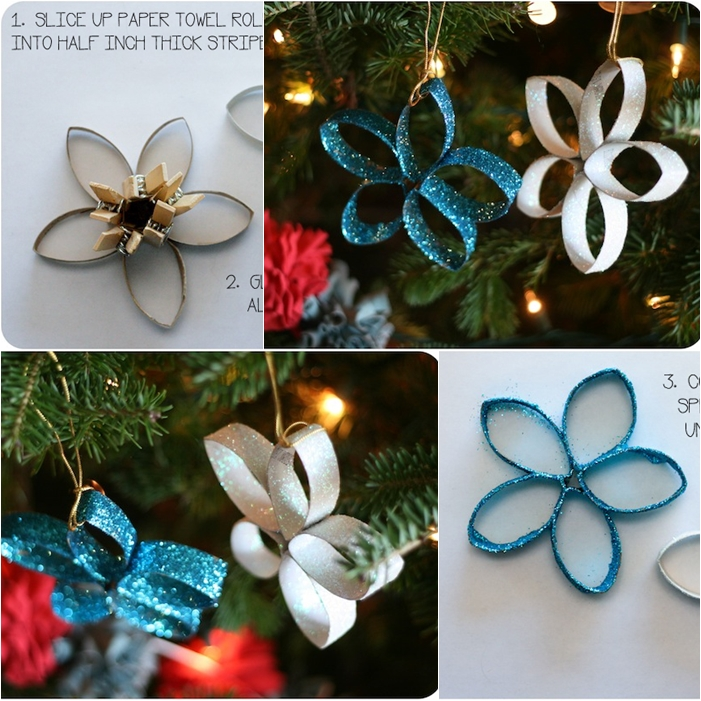 Wonderful Diy Paper Roll Christmas Tree And Star Ornaments
